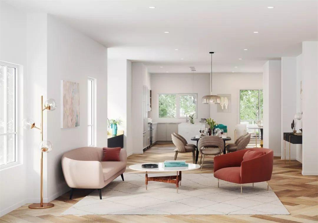 满分学区别墅起价仅$85万,2000余尺4房4卫大户型联排 | 户型赏析