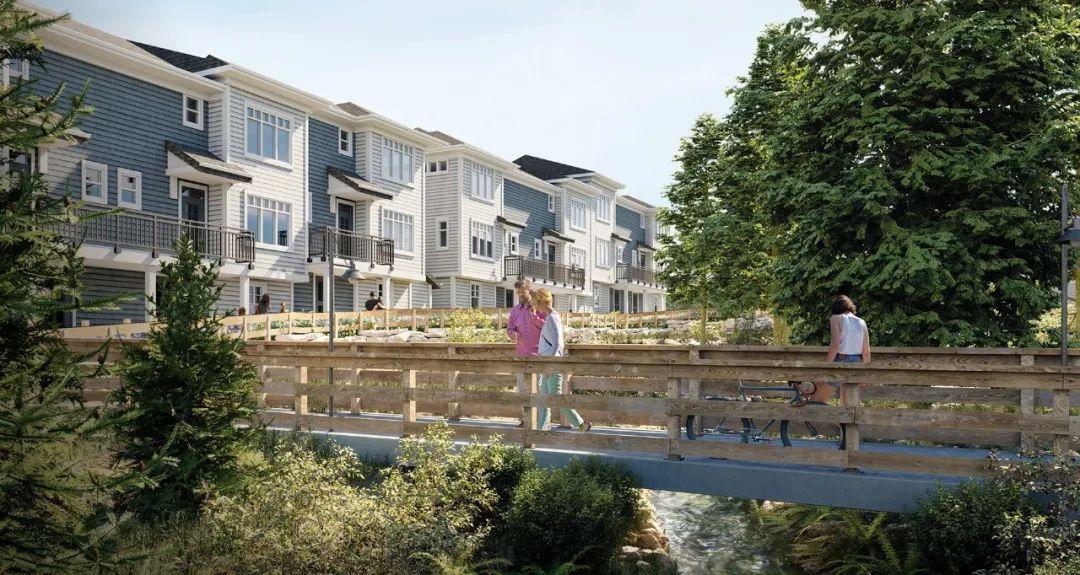 $69.99万起,入住拥有小桥流水的联排别墅,10分钟即达高贵林中心