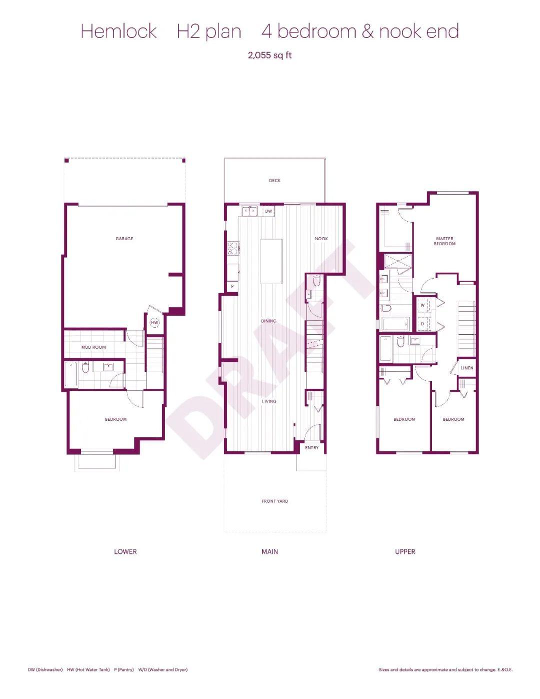 每尺低至$400+,10分钟即达Coquitlam Centre,入住10尺层高的开阔四房联排别墅