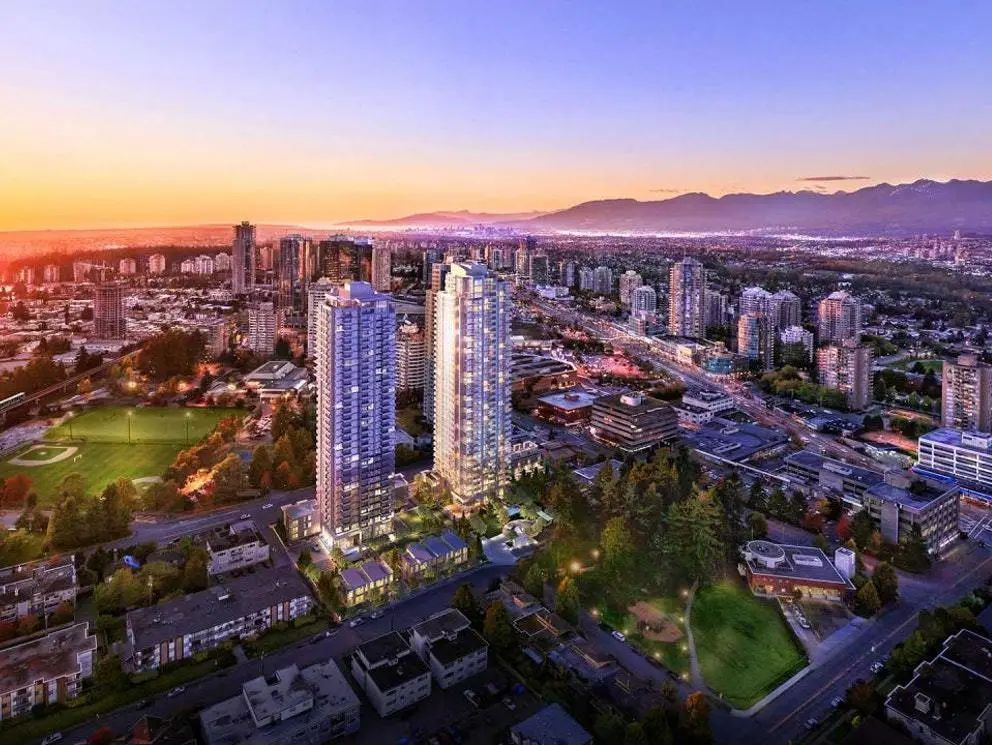 Metrotown中心全楼最低尺价,协平世博打造,超高层黄金南向2房2卫 | 户型赏析