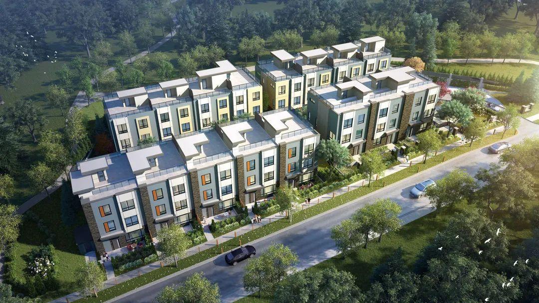 每尺低至$400+,入住10尺层高、南北通透、带楼顶露台的联排别墅