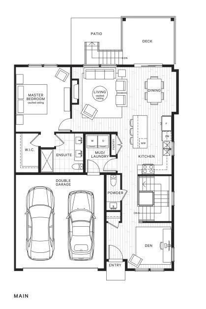 仅剩最后1套!享9-12尺层高,带书房和娱乐厅,入住2000余尺3房3卫双拼联排 | 户型赏析